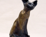 93 Siamese Cat bronze